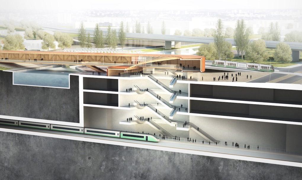 Thiết kế Pont de Bondy metro bởi BIG