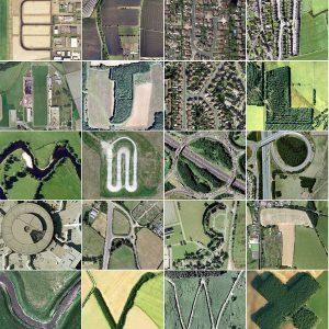 Bảng chữ cái Google Earth được tìm thấy trong cảnh quan xung quanh nước Anh