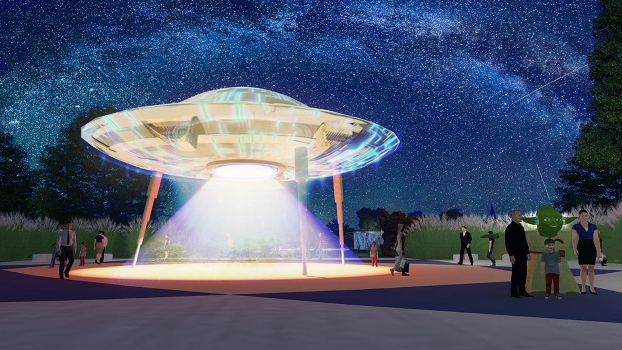 thiết kế cảnh quan quảng trường người ngoài hành tinh