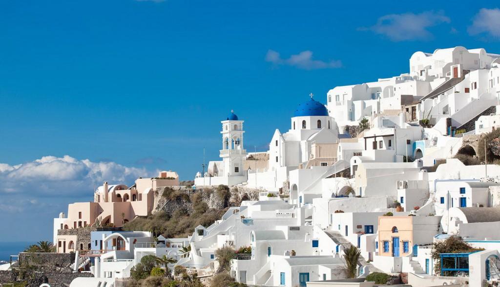 Sắc màu trong thiết kế cảnh quan - Santorini, Hy Lạp