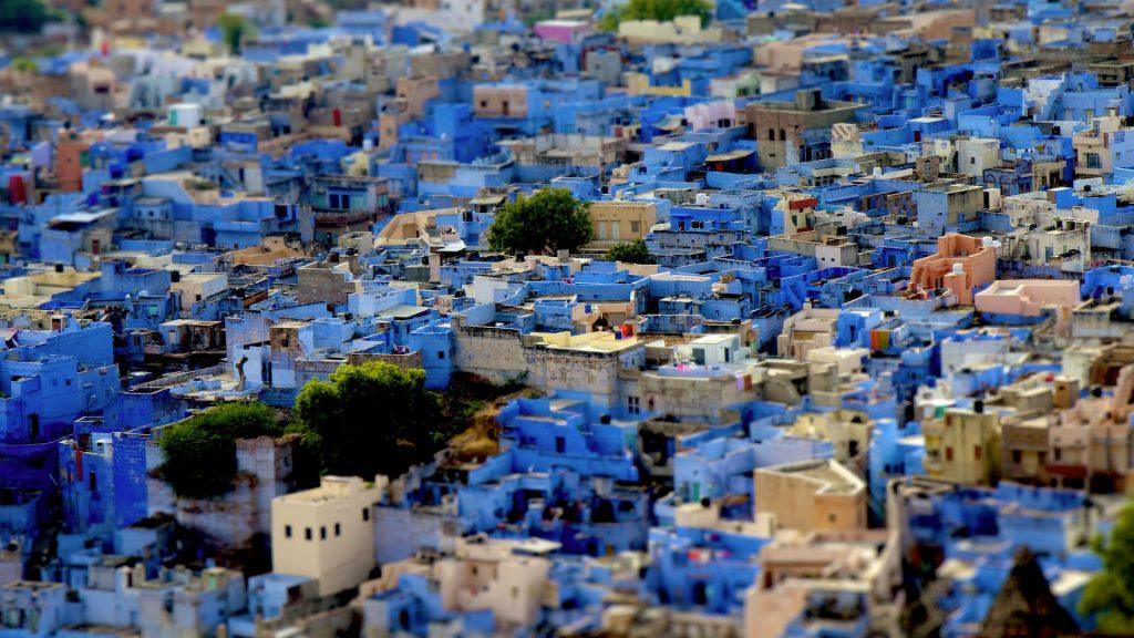 Màu sắc trong thiết kế cảnh quan - Thành phố Jodhpur của Ấn Độ