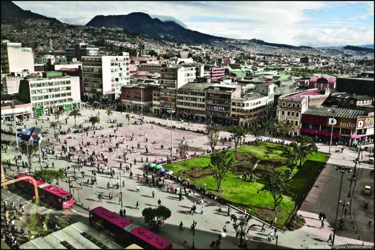Mariposa square in Bogota, Colombia