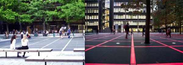 Thiết kế chiếu sáng cảnh quan dự án Finsbury Avenue Square