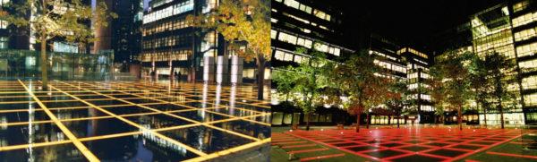 Thiết kế chiếu sáng cảnh quan dự án Finsbury Avenue Square 01