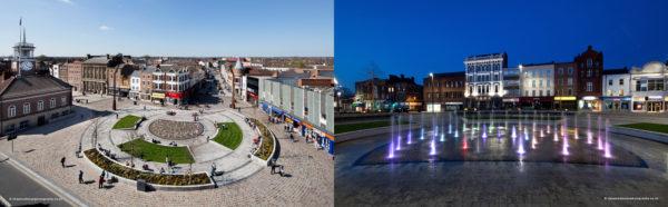 thiết kế chiếu sáng cảnh quan cho Stockton Town Center
