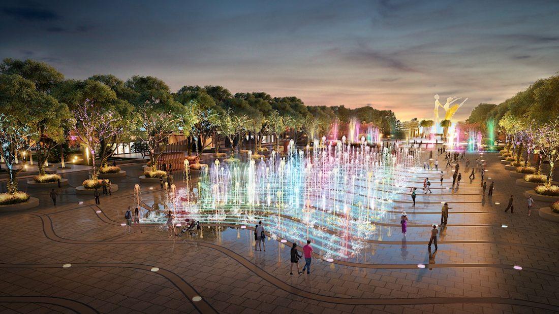 Khu nhạc nước - EGO thiết kế cảnh quan quảng trường công viên Sun Carnival Plaza Hạ Long