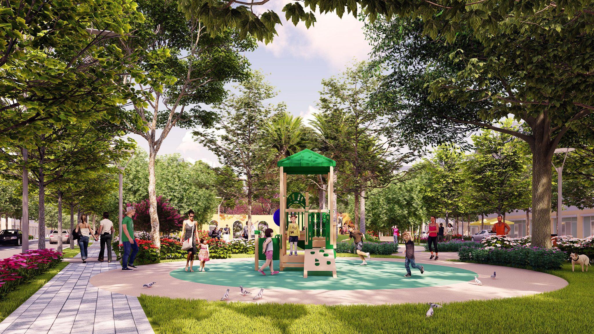 thiết kế cảnh quan công viên areca