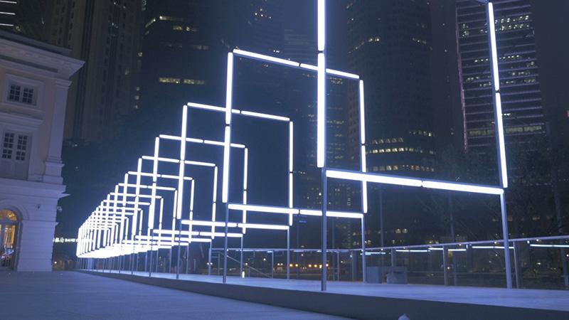 Interactive Light & Sound Installation / Tác phẩm sắp đặt: Tương tác với ánh sáng và âm thanh