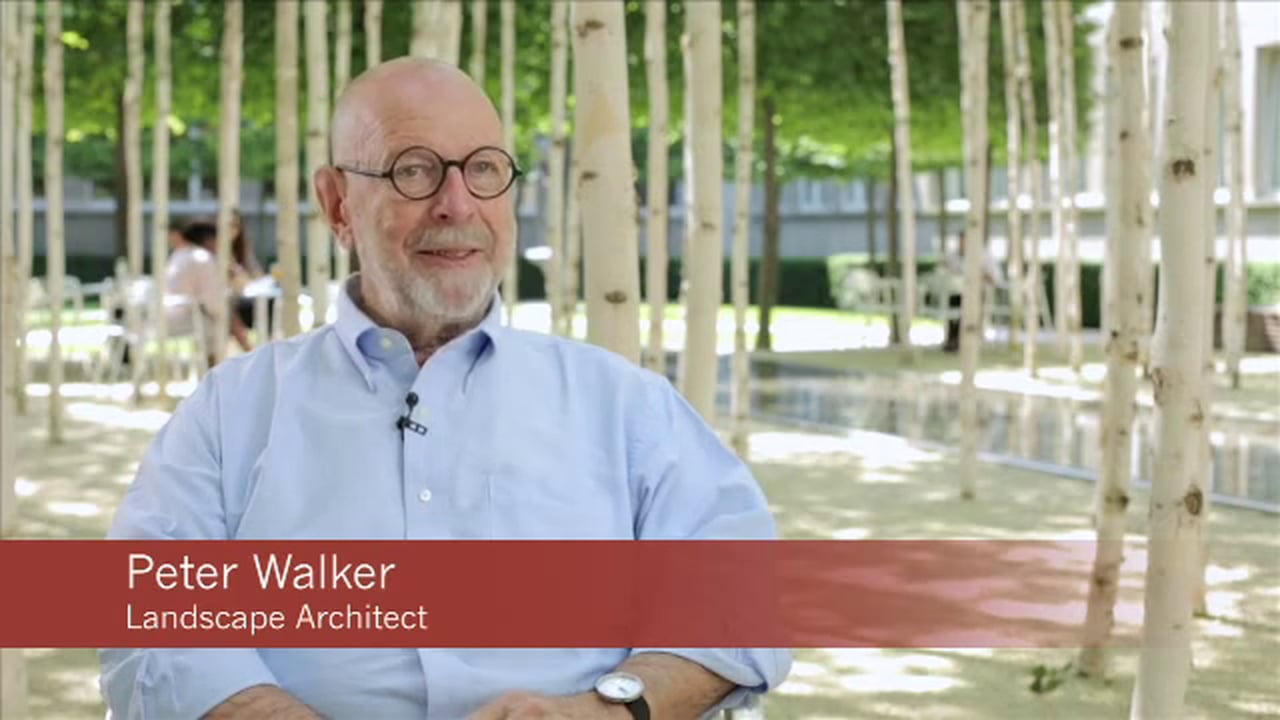 Interview with landscape architect Peter Walker about Novartis Headquarters in Basel, Switzerland