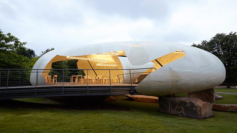 Serpentine Gallery Pavilion 2014 by Smiljan Radić