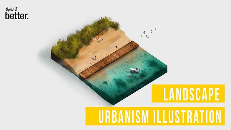 Landscape Urbanism Illustration Timelapse