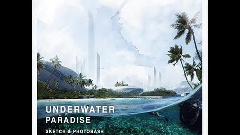 UNDERWATER PARADISE – Sketch/Photobash/Paint / Diễn họa photoshop cảnh dưới mặt nước biển