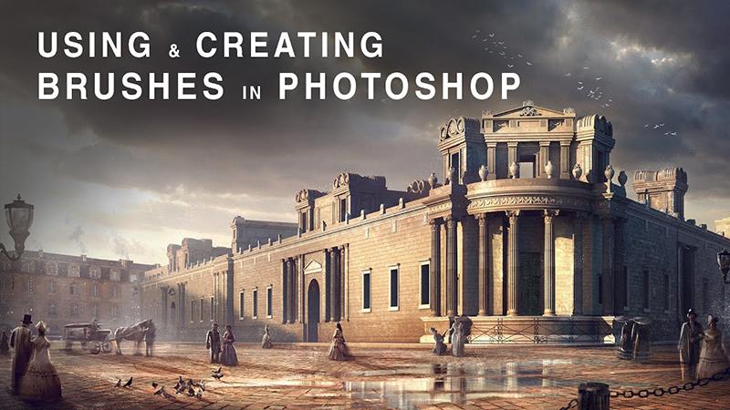 Using & Creating Brushes in Photohop / Sử dụng Brush của Photoshop trong diễn họa kiến trúc