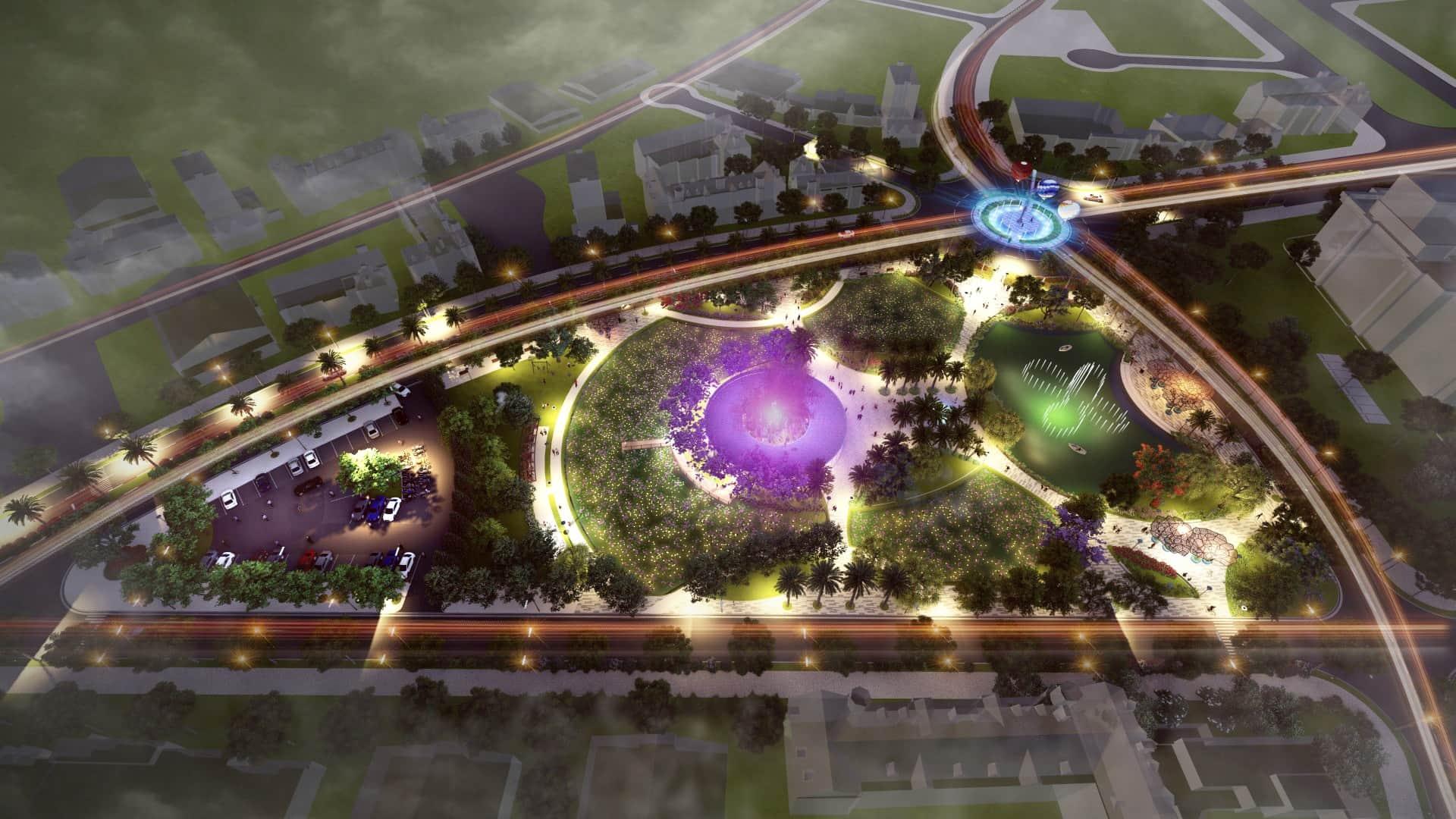 thiết kế cảnh quan công viên trung tâm O2 Park - VSIP Bắc Ninh